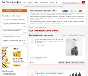 Éditeur du site web communautaire www.citation-du-jour.fr